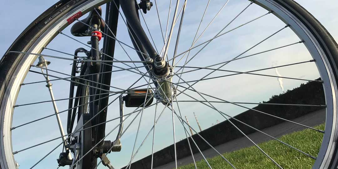 Do not cycle against the wind