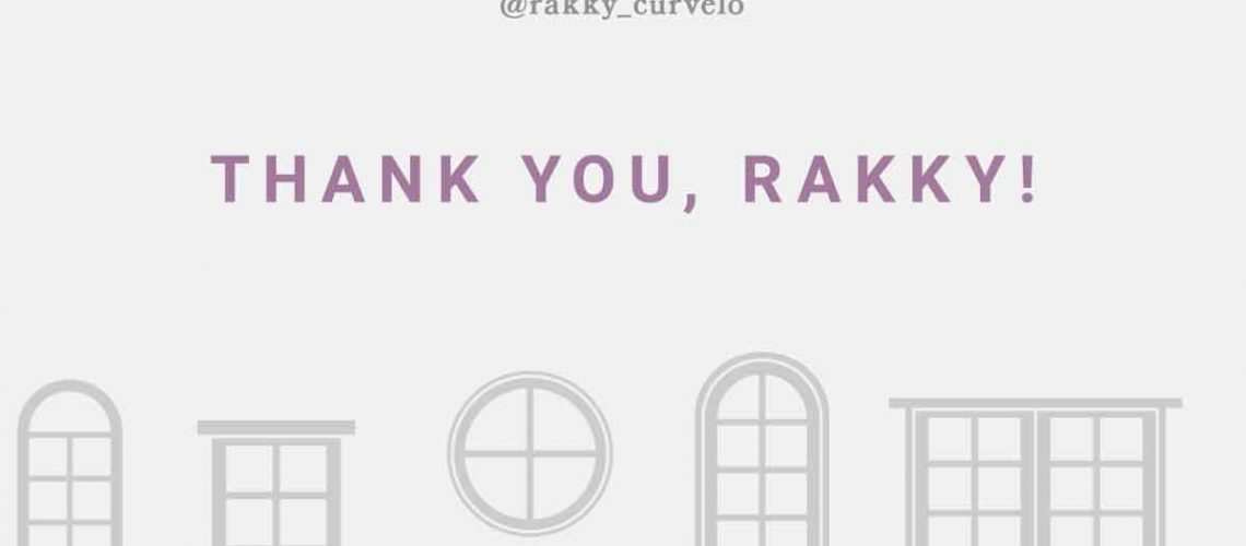 Thank you, Rakky